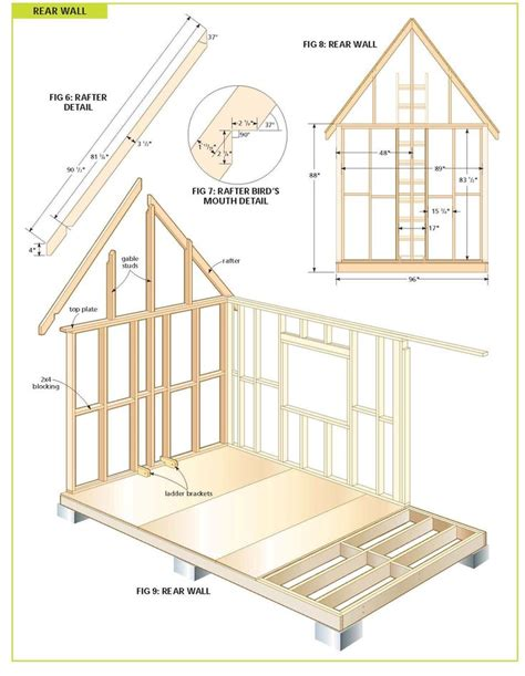 cabin building plans free free wood cabin plans step by step guide to building a tiny house small houses pinterest