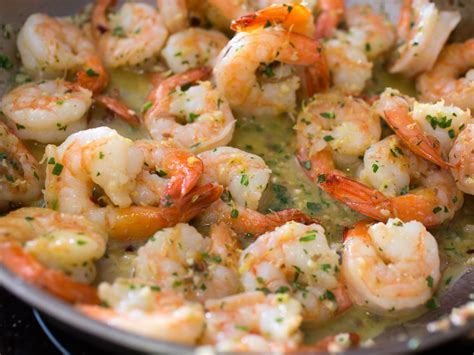 cook shrimp shrimp sci with garlic red pepper flakes and herbs recipe serious eats