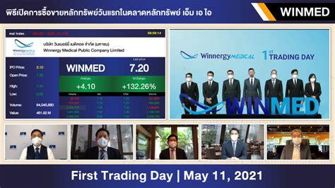WINMED เทรด mai วันแรก ราคาเปิดตลาด 7.30 บาท บวก 135.48% ...