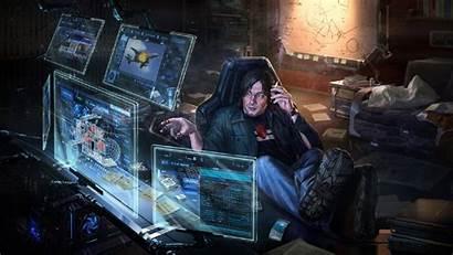 Cyberpunk Futuristic Computer Sci Fi Background Wallpapers