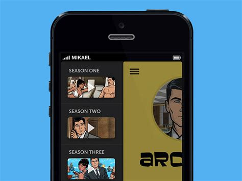 animation apps for iphone showcase of side menus in app design