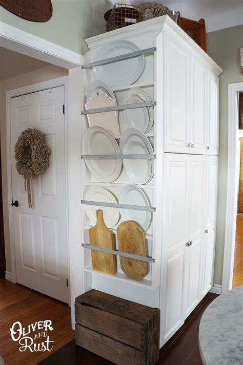 plate rack kitchen diy   great idea  storing large