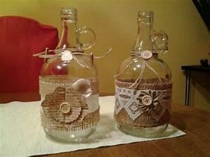 Basteln Mit Einmachgläser : bauchige flaschen verziert geschenke diy pinterest ~ Markanthonyermac.com Haus und Dekorationen