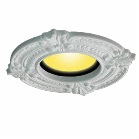 White Ceiling Medallion Urethane Recessed Trim Rosette 6