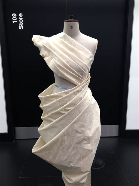 Draping Designs - draping on the stand dress design developing structure