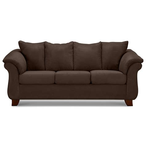 Chocolate Loveseat by Adrian Chocolate Sofa Value City Furniture