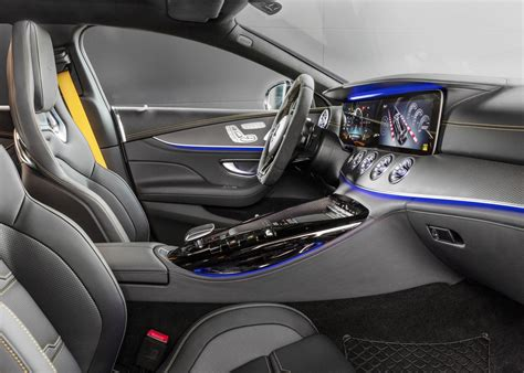 There's also a new amg performance steering wheel, with extra buttons (and mini screens) located in the right and left lower spokes controlling the drive mode and dynamic settings. 2019 Mercedes-AMG GT 4-Door now on sale in Australia | PerformanceDrive