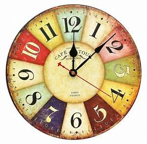 Large, Decorative, Wall, Clock, Relian, 13, 5, U0026quot, Vintage, Silent, Wall, Clock, Non, Ticking, 729910157405
