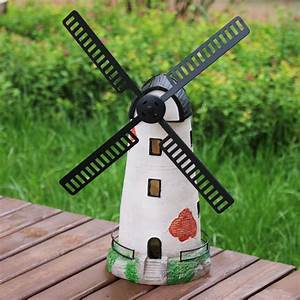 1 pc home garden ornament decor 375cm resin dutch With moulin a vent decoration jardin 1 deco moulin a vent jardin