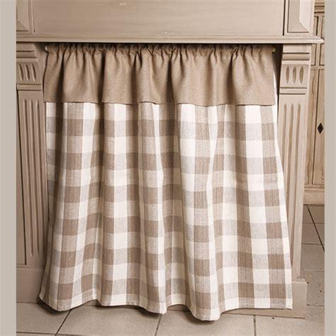 rideaux cuisine brise bise linge de table rideau sous évier grands carreaux