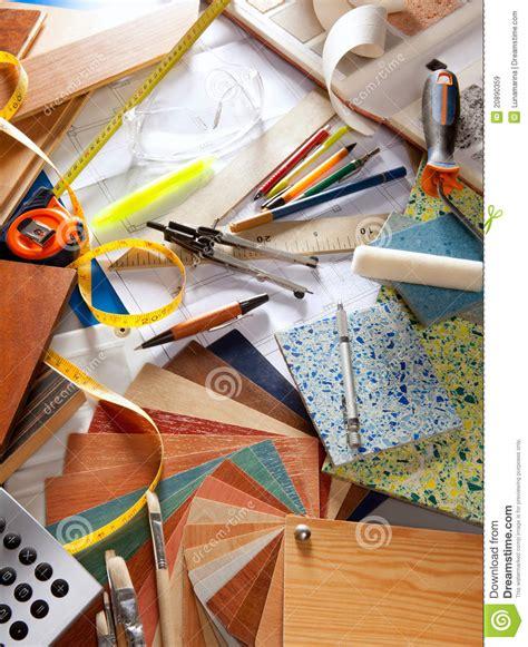interior decorating tools architect desk interior designer workplace royalty free stock images image 20890359