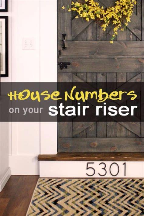 creative ways  display  house number  diy