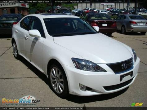 white lexus is 250 2008 2008 lexus is 250 awd starfire white pearl black photo