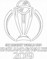 Cup England Cricket Colouring Pages Coloring Printable sketch template