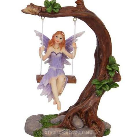 fairy   swing fairy statue purple empiregiftscomau