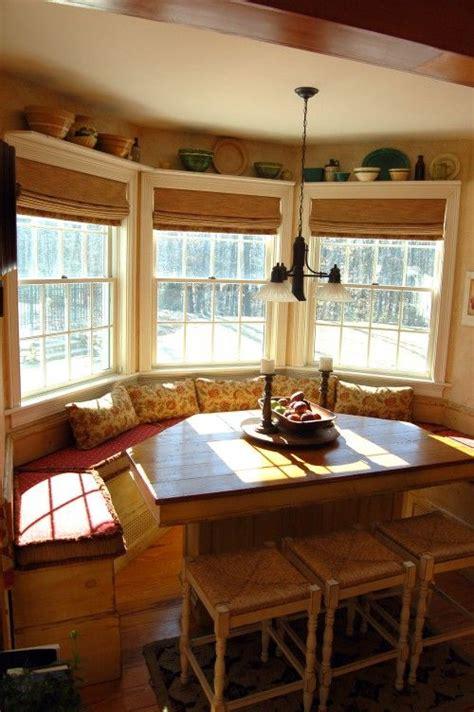bamboo blinds  shelves  windows kitchen ideas   window seat kitchen bay