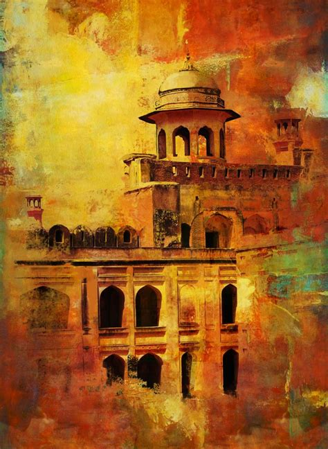lahore fort painting  corporate art task force saatchi art