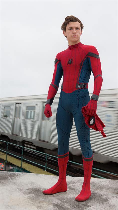 wallpaper spider man homecoming tom holland superhero
