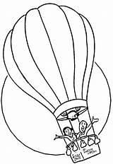 Coloring Balloon Air Printable sketch template