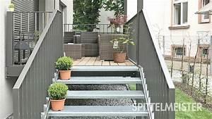 balkontreppe aussentreppe aus stahl vom treppen spezialist With whirlpool garten mit treppe vom balkon in den garten bauen
