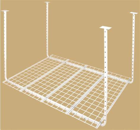 hyloft 60x45 inch heavy duty ceiling mount shelf white