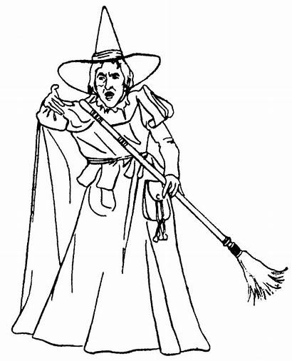 Wicked Witch Hamilton Margaret Lady Wizard Coloring