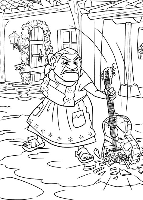 disney coco coloring pages getcoloringpagescom