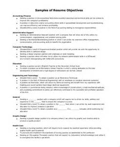 entry level resume objective exles general resume objective sle 9 exles in pdf