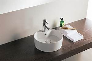 awesome vasque a poser design photos awesome interior With salle de bain design avec vasque lavabo ronde