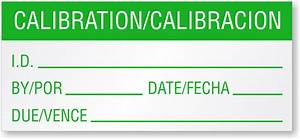calibration calibracion bilingual calibration label With custom calibration labels