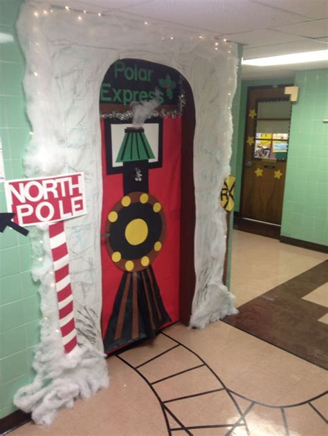 polar express holidaychristmaswinter door decoration