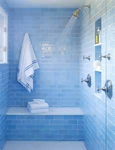 blue tiles bathroom ideas 40 blue glass bathroom tile ideas and pictures