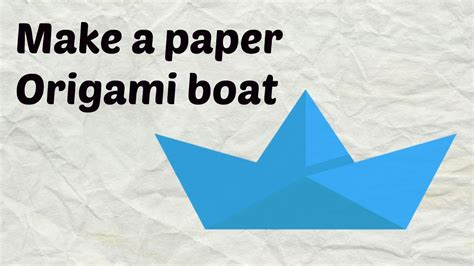 How To Make A Paper Boat That Floats And Holds Weight Step By Step by How To Make A Paper Boat That Floats Easy Origami