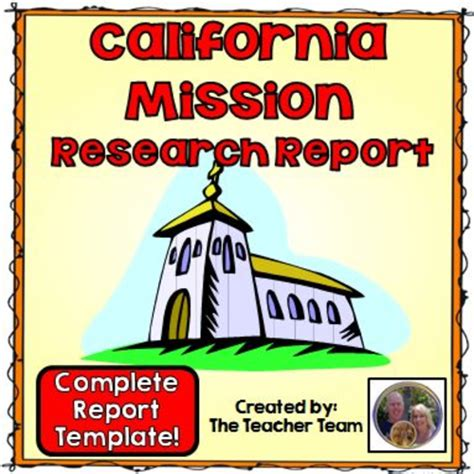 4th grade mission project template california mission research report by theteacherteam teaching resources tes