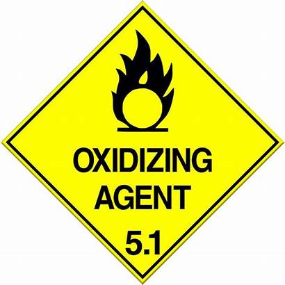 Agent Oxidizing Oxidising Sign Class Dangerous Goods