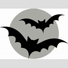 Bats Flying On Moon  Pumpkin Template  Holiday Hour