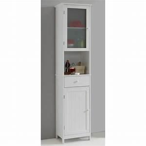 stockholm colonne de salle de bain l 40 cm blanc laque With meuble colonne salle de bain 20 cm