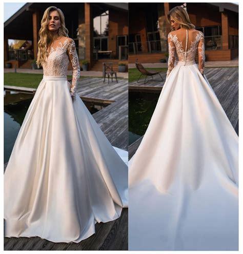 lorie wedding dress  long sleeves beach bride dress