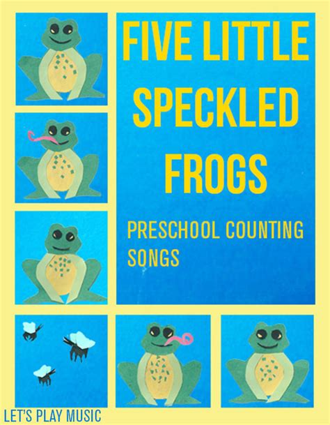 counting songs for preschool 5 speckled frogs counting songs 415