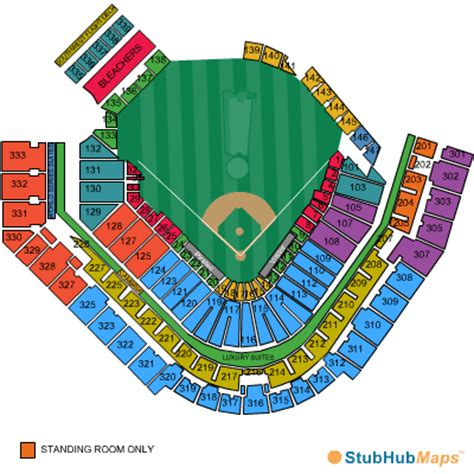 pnc park seating chart pictures directions  history pittsburgh pirates espn