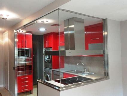 puertas de cristal  la cocina decoracion de