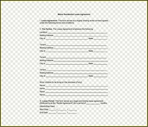 lease agreement template template  resume examples