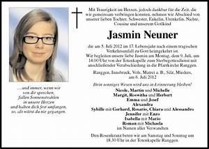 Zitate Gemeinsame Zeit : traueranzeige von jasmin neuner vom ~ Orissabook.com Haus und Dekorationen