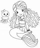Merman Coloring Mermaid Printable Getcolorings sketch template