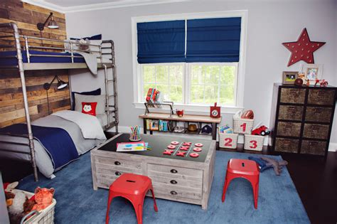 red white and blue kids rooms project junior