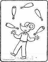 Juggling Clubs Colouring Thomas Kiddicolour Circus Drawing Pages 01v sketch template
