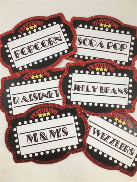 Explore a wide range of the best card label on aliexpress to besides good quality brands, you'll also find plenty of discounts when you shop for card label during. Movie Night Party Label Cards Set of 6 Food Labels Candy