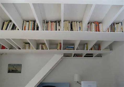 Unique Ceiling Bookshelf Ideas Irooniecom