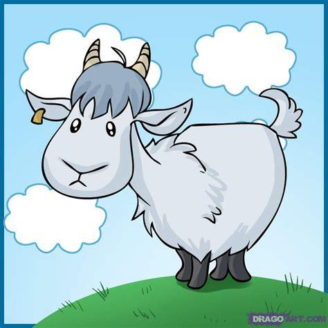 draw  cartoon goat step  step farm animals