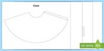 cone template twinkl 3d shape nets ks1 worksheet activity sheets cube cuboid